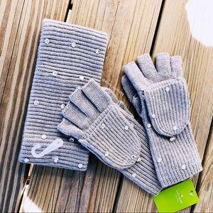 ✨Bedazzle Stone Mitten Glove & Headband Set✨
